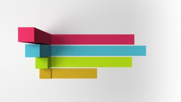 3D Four square bar title box chart, presentation template.version 3 ...