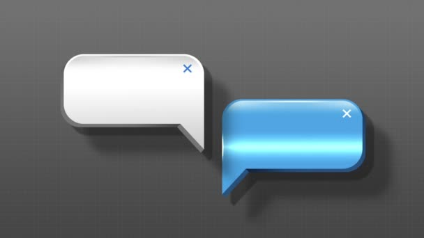 Speech bubbles animation motion graphic for presentation templete. style 2