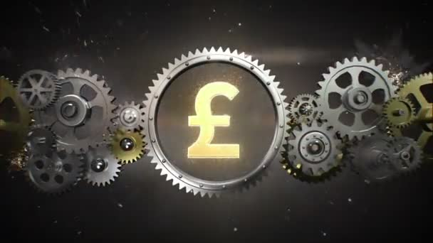 Connecting Gear wheels, and make pound money currency sign(included alpha)