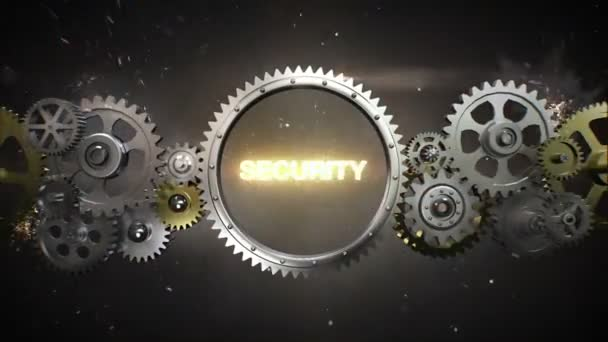 Connecting Gear wheels and make keyword,  SECURITY (included alpha)