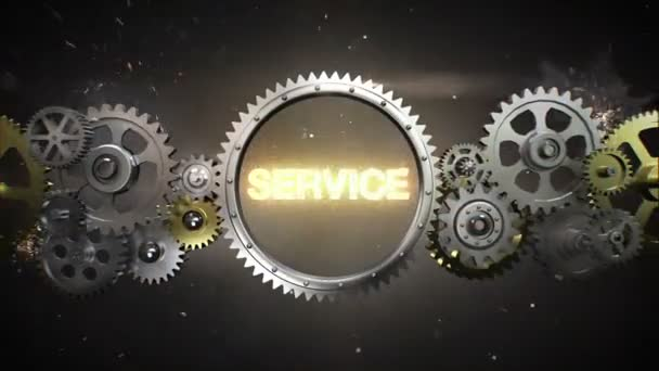 Connecting Gear wheels and make keyword,  SERVICE (included alpha)