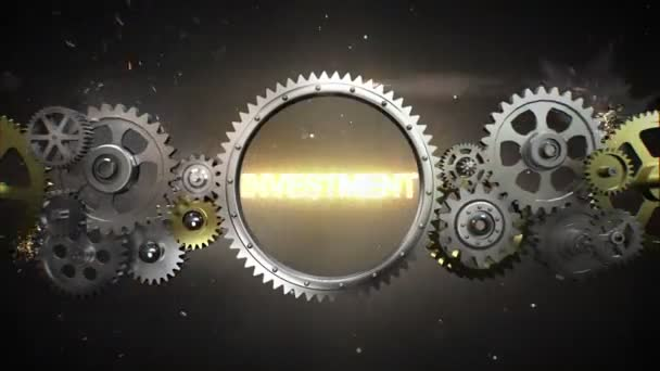 Connecting Gear wheels and make keyword,  INVESTMENT (included alpha)