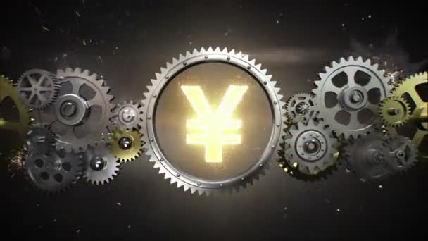 Connecting Gear wheels,  and make Yen money currency sign(included alpha)