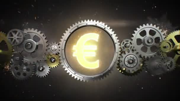 Connecting Gear wheels,  and make Euro money currency sign(included alpha)