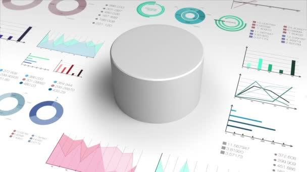 100 percent circle cylinder pie chart and various graph chart for presentation templete.