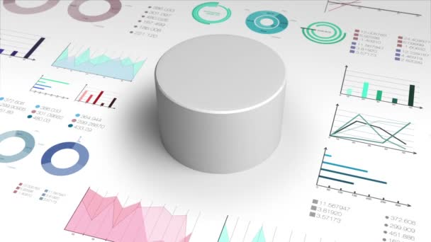 60 percent circle cylinder pie chart and various graph chart for presentation templete.