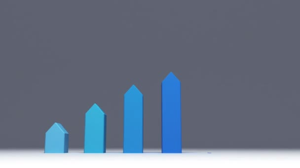 Increase six 3D arrow bar. chart for presentation template.version 2(included alpha)