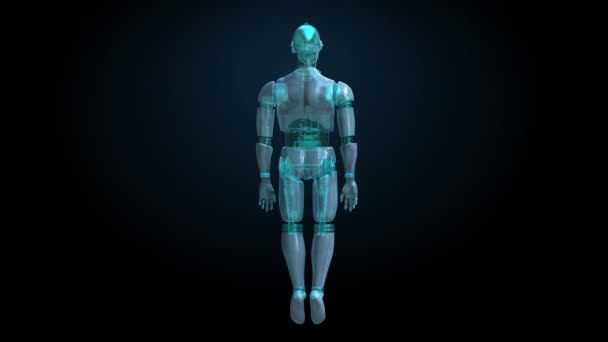 Rotating transparency 3D robot body(included alpha)