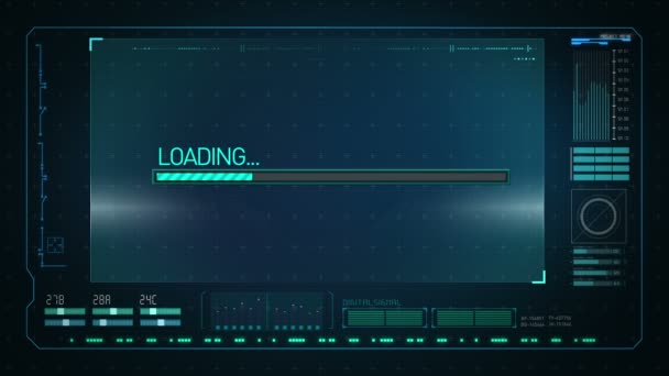 Downloading in Digital display interface. technology graph, computer operation data screen.
