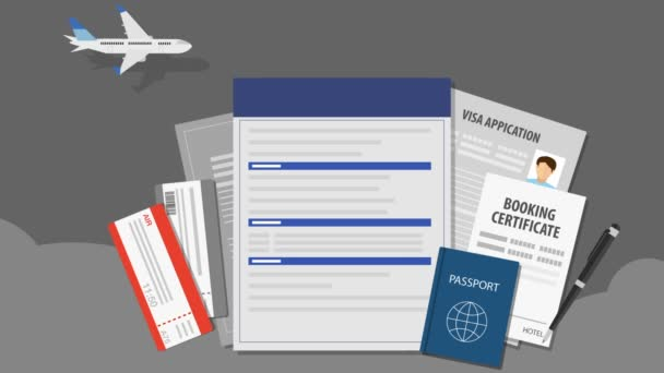 Travel Insurance for travel, tour. air ticket.passport, illustration animation(included alpha)