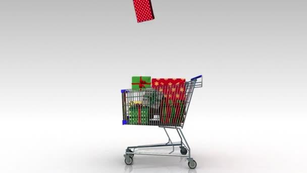 Moving cartdropping gift box shopping bag stock video moving cartdropping gift box shopping bag stock video negle Choice Image