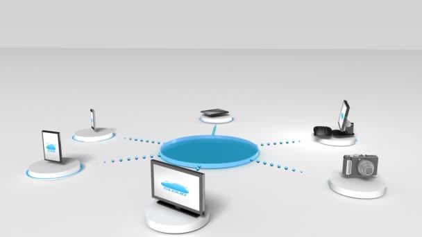 Přístup Cloud computing služeb animace