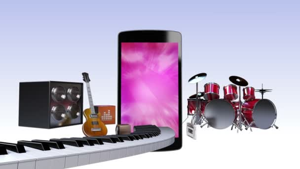 Smart phone, entertainment contents for music concept (included screen alpha,background alpha)