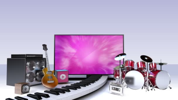 Smart TV, entertainment TV channel contents for music concept (included screen alpha,background alpha)