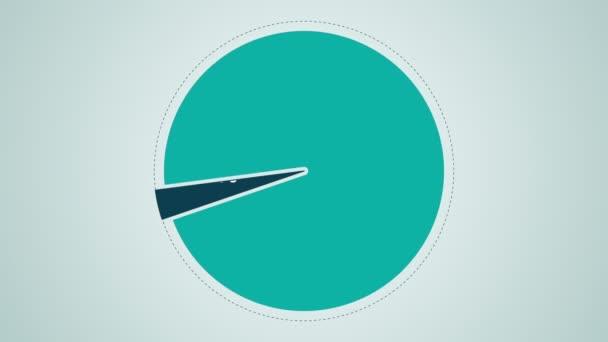 Okruh diagram pro prezentaci, výsečového grafu uvedeno 10 procent