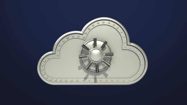 Přístup k Cloud souboru zabezpečení animace (zahrnuty alfa) otevřeno mrak bezpečné