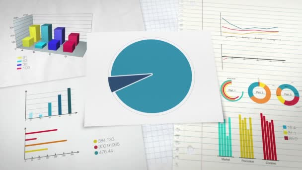 Circle diagram for presentation, Pie chart indicated 20 percent, and various graphic diagram.