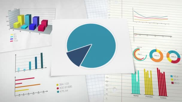 Circle diagram for presentation, Pie chart indicated 40 percent, and various graphic diagram.