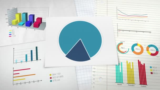 Circle diagram for presentation, Pie chart indicated 60 percent, and various graphic diagram.