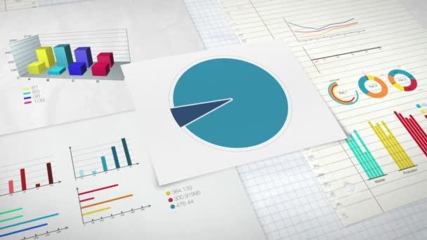 Okruh diagram pro prezentaci, výsečového grafu uvedeno 20 procent a různé grafické diagramu. verze 2