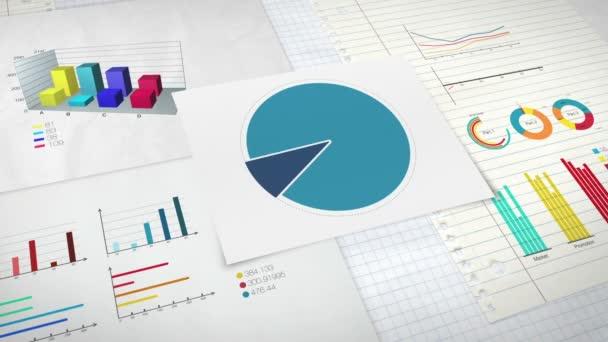 Okruh diagram pro prezentaci, výsečového grafu uvedeno 30 procent a různé grafické diagramu. verze 2