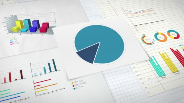 Circle diagram for presentation, Pie chart indicated 40 percent, and various graphic diagram. version 2