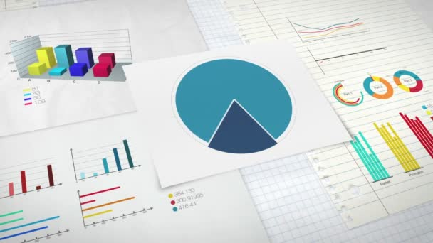 Circle diagram for presentation, Pie chart indicated 60 percent, and various graphic diagram. version 2