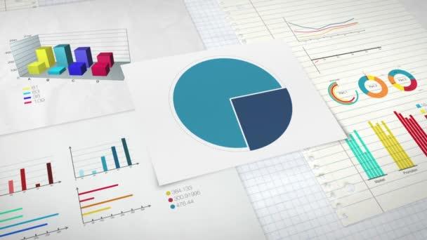 Kruh diagram pro prezentaci, výsečového grafu uvedena 90 procent a různé grafické diagramu. verze 2