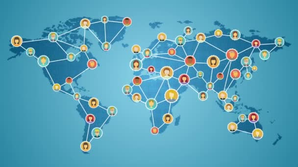 Connecting people of the world, Global business network. social media service. 1