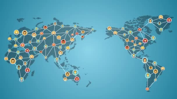 Connecting people of the world, Global business network. social media service. 2