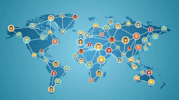 Szúró telefon csatlakozó emberek a világ, a globális üzleti hálózat. szociális média service.1