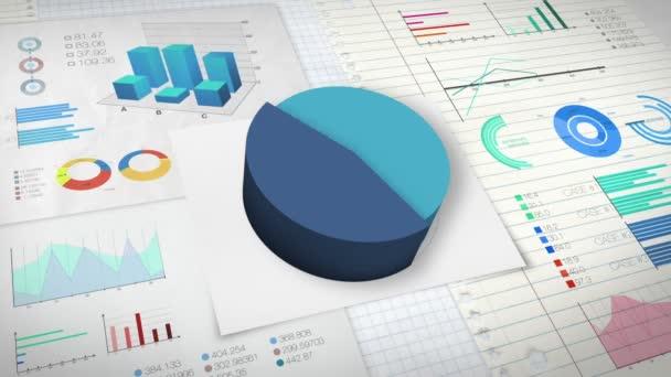 60 procent výsečový graf s různými graf ekonomické finance.