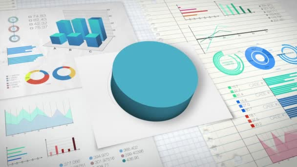 70 procent výsečový graf s různými graf ekonomické finance.
