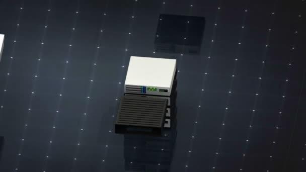 Databáze symbol a bezpečnost. Databáze serveru webhostingové ikony 3d