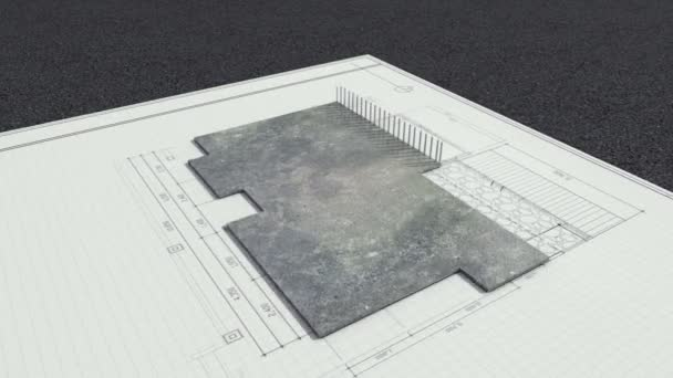 az építészeti rajz megváltozott háromdimenziós house.and eladó jele