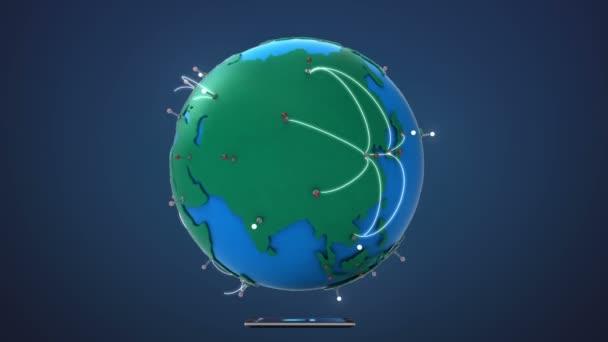 Začněte Asie, rostoucí globální síť s komunikací, chytrý telefon, mobilní zařízení