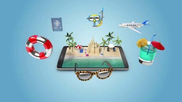 hoblování cesty do letní prázdniny, mobilní přístup k on-line tour