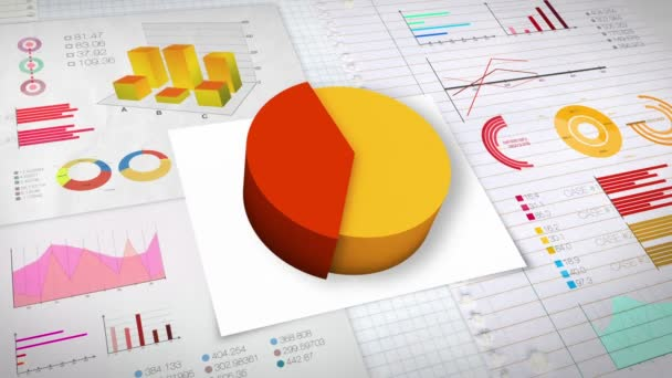 40 percent Pie chart with various economic finances graph(no text version)