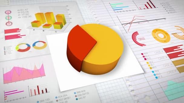 30 percent Pie chart with various economic finances graph(no text version)