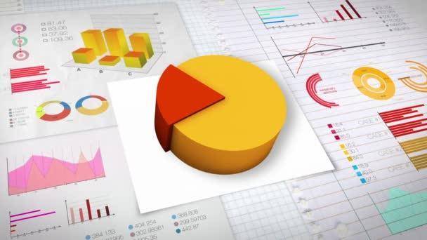 20 percent Pie chart with various economic finances graph(no text version)