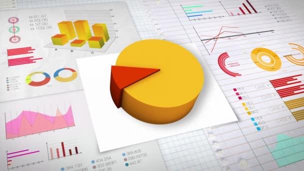 10 percent Pie chart with various economic finances graph(no text version)