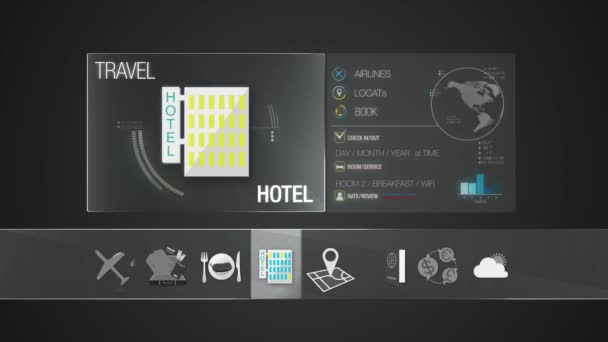 Hotel icon for travel contents.Digital display application.