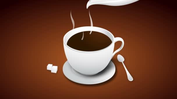 kávové menu desky animace