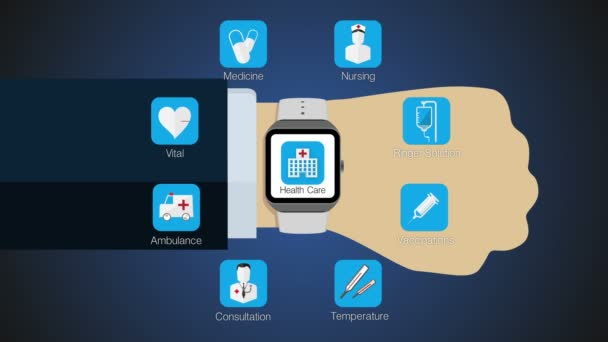 Health care application function for smart watch,mobile watch