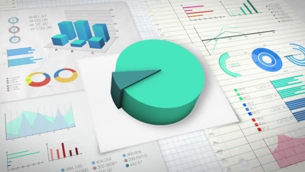 10 percent Pie chart with various economic finances graph version 2 (no text version)