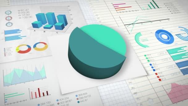70 procent výsečový graf s různými ekonomické finance graf verze 2 (žádná textová verze)