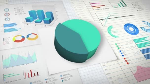 50 procent výsečový graf s různými ekonomické finance graf verze 2 (žádná textová verze)