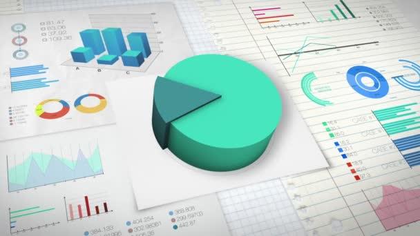 20 percent Pie chart with various economic finances graph version 2 (no text version)