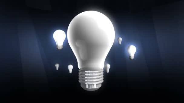 Luce di lampadina di vari muoversi con lampadina.