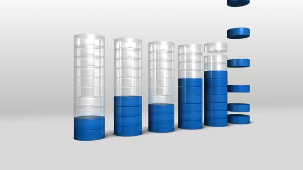 Increase economic graph. 3D circle Bar Chart 2.(included alpha)